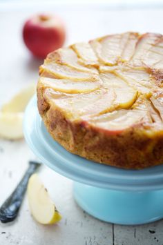 Bookmark this Apple and Pumpkin Upside-Down Cake for fall.