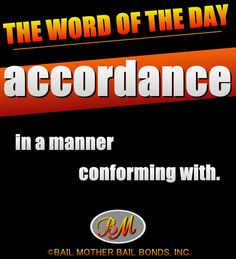 accordance