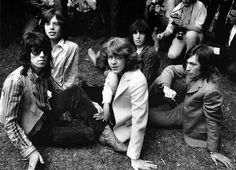 "June 13 1969. The Rolling Stones unveil Mick Taylor, their replacement for Brian Jones, at a press conference in London Hyde Park. ""He's very level-headed"", said Mick Jagger. ""I don't think we'll have any trouble"". ♥ #RollingStones #KeithRichards #BrianJOnes #RonnieWood #CharlieWatts #MickJagger"
