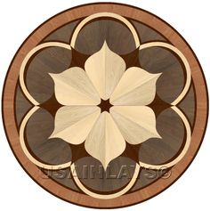 Hardwood flooring Floor Medallion Inlay-So pretty