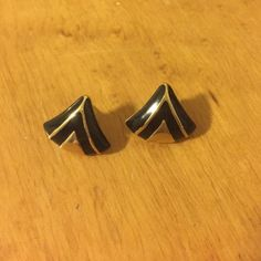 Vintage art deco earrings Amazing vintage good and black enamel earrings with an art deco feel! These studs are elegant and so in right now! Vintage Jewelry Earrings