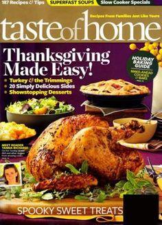 Taste Of Home Magazine Subscription - $3.99. https://www.tanga.com/deals/3d905ddcf7/taste-of-home-magazine-subscription