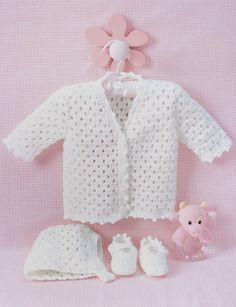 Lacy Set to Crochet - Patterns | Yarnspirations