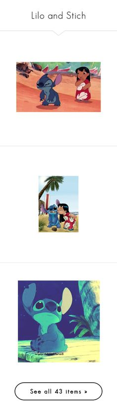"""""""Lilo and Stich"""" by ejoygnow ❤ liked on Polyvore featuring art, disney, pictures, photos, backgrounds, lilo and stitch, filler, wallpaper, words and quotes"""
