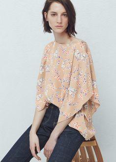 Bluse mit fledermausärmeln - Blusen für Damen | MANGO Österreich