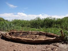 A papyrus canoe by Lake Tana, Bahir Dar, Ethiopia. Lake Tana is the source of the Blue Nile and it is known for its many islands with old churches and monasteries.