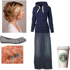 """It's time for a walk.... """"Gray and Navy Blue"""" by createdfeminine on Polyvore"""