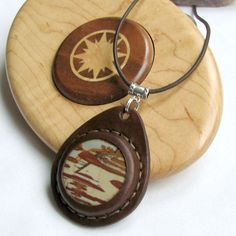 Picture Jasper Necklace  Owyhee Jasper  an by @aosLeather on Etsy, $62.00 @MaryLou Wilson