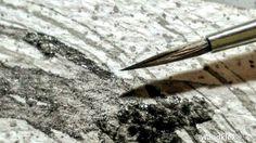 #GuteNachtKlex No5/2017: Bleigrau lastet auf dem Blatt sucht in Harmonie sich zu verwandeln in klaftertiefem Schlaf.  #wandklex #meetthemaker #behindthescenes #atelier #workinprogress #wip #studio #lyrik  #grau #grey #depression #hope #abstract #abstractpainting #experiment #chaos #circles #round #kreise #aquarell #watercolor #watercolour #watercolours
