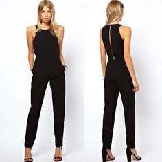 Women Casual Sleeveless Evening Party Cocktail Jumpsuits Rompers Clubwear  Jumper e87d4a65e7