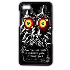 Legend Of Zelda Majoras Mask Quote Black TATUM-6400 Blackberry Phonecase Cover For Blackberry Q10, Blackberry Z10