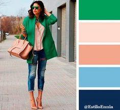 Cómo combinar los colores para crear un look perfecto. Os dejamos nuevas ideas para combinar los colores.