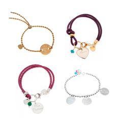 Ideas de pulseras personalizables para regalar el día de la Madre Pulseras/Brazalets: Gold, Simpleheart, Marrakech & Classic