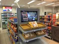 Seasam digital signage in grocery store