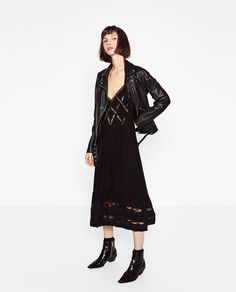 Image 1 of SLIP DRESS WITH STRAPS from Zara