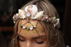 thin aura crown by chelseasflowercrowns on Etsy