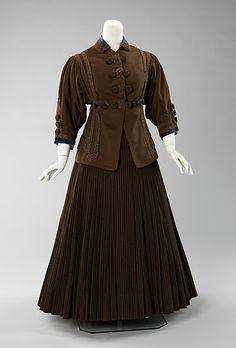 Suit: ca. 1907, American, wool, silk.