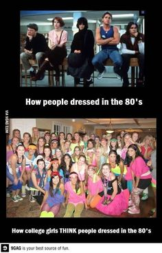 This one goes out to my club basketball team becasue we have an 80s theme party tonight and I'm sure we'll be similar to the bottom photo. hahaha