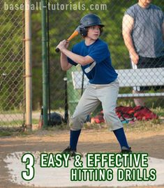 3 easy & effective baseball hitting drills that can be used to coordinate hitting & breathing, get rid of tension, and gauge percentage of power on a swing. Baseball Dugout, Baseball Tips, Baseball Pitching, Baseball Training, Baseball Shoes, Baseball Stuff, Baseball Activities, Baylor Basketball, Baseball Injuries