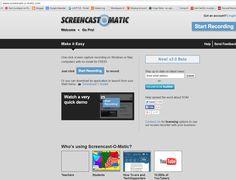 #screencast  http://www.screencast-o-matic.com/ . (se mer här http://www.verkkopedagogiikka.fi/sarjatulta/tag/vodcast/ ) #kultjanst (kräver inte inloggnig) och #kulverktyg (man kan logga in och få en ege profil).