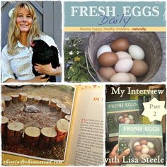The Mind to Homestead: Episode 20 FED Interview graphic - pt 2 http://radio.thesurvivalmom.com/mind-homestead-interview-lisa-steele-fresh-eggs-daily-part-2-2/