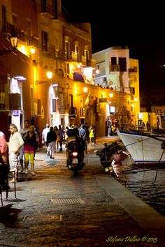 Ponza Harbour by Night, Italy
