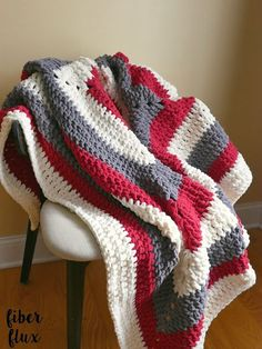 The Snow Berries Throw is wintry, lofty, and so super comfy! Crocheted in a modern stripy square, the color possibilities are endless. Great for those chilly winter nights and looks great draped over