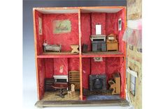Vtg DollHouse Miniature Doll House Hong Kong Elf Set Lot Furniture Accessory