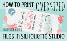 Printing and Designing Life-Size Graphics in Silhouette Studio ~ Silhouette School