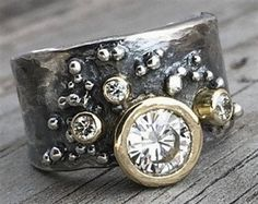 Engagement Ring Handmade by Wild Prairie Silver Jewelry Moissanite, 18K Gold, and Sterling Silver 18K Gold and Sterling Silver Engagement Ring Handmade by Wild Prairie Silver Jewelry 18K Gold Comfort…MoreMore #SilverJewelry