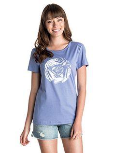 Roxy Damen T-Shirt Basic 40 Blau - Light Denim