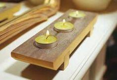 Tea-light holder inspired by japanese wood sandals
