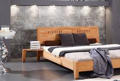 Drewniane łóżko Space - do dużej i małej sypialni