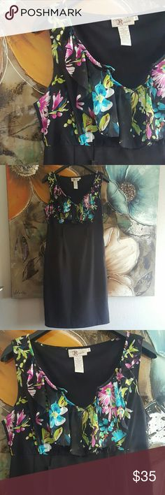 🌟SALE Floral midi dress Super cute floral ruffle midi dress. V neck. Polyester blend. For any occasion. Dress did not have belt when purchased. Any belt will fit. Length 40in Boutique  Dresses Midi