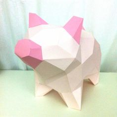 Piggy papercraft. You get a PDF digital file with templates and detailed instructions for this DIY (do it yourself) paper model. by sofsdesigns on Etsy