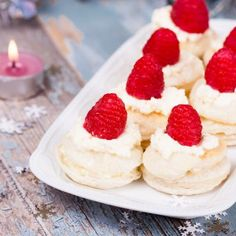 Raspberry Topped Vanilla Macaroons