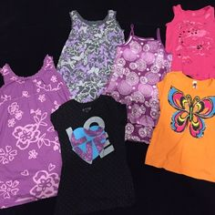 Little Girl size 10/12 Bundle 6 items - 3 dresses (2 old navy, 1 faded glory)1 Tshirt (total girl),  1 Tank Top (children's place), 2 Shirts (total girl & knitworks) Other