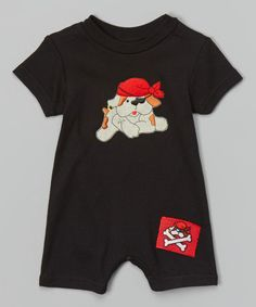Loving this Black Dog Pirate Romper - Infant on #zulily! #zulilyfinds