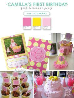 Camilla's pink lemonade party | Nico and Lala