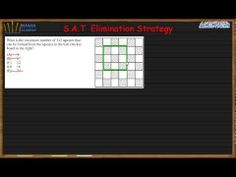 This video is about SAT Math Practice, it will show you how to solve any SAT math questions related with Elimination Strategy Duration: Sat Math Questions, Sat Practice, Math Courses, Math Lessons, Periodic Table, Teen, Youtube, Periodic Table Chart, Periotic Table