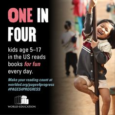 1 in 4 kids reads for fun EVERY day! Four Kids, 4 Kids, Reading Counts, Good Books, Books To Read, Education For All, Kids Reading, In This Moment, Learning