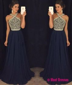 Navy Blue Prom Dresses,Navy Blue Prom Gowns,Prom Dresses, Party Dresses,Long Prom Gown,Prom Dress,Sparkle Evening Gown,Sparkly Party Gowns PD20186322
