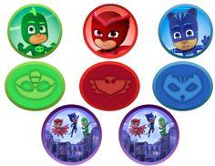 Masked Pajama Superheroes Favor/Cupcake