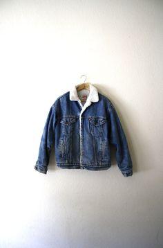 Vintage Levis Sherpa Lined Jacket Available at BigBrotherVintage