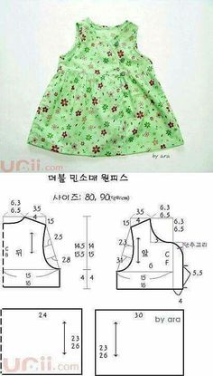 Mold dress for girl - baby dress pattern - Roupas Infantis Kids Dress Patterns, Baby Clothes Patterns, Sewing Patterns For Kids, Clothing Patterns, Sewing For Kids, Sewing Clothes, Doll Clothes, Baby Sewing Projects, Little Girl Dresses