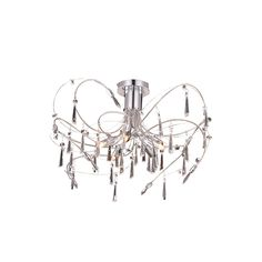 Elegant Lighting 3203F22C/RC Galactic Collection Ceiling Lamp D: 22 H: 14 Chrome Finish (Royal Cut Crystal)