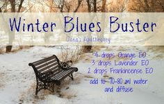 Winter Blues Buster essential oil diffuser blend... this is wonderful!!! Unfortunately, I need it around here, a lot! Learn more at www.OilsInspired.com