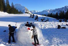 Iglu Incentive Vorarlberg (c) Aktivzentrum Bregenzerwald Team Building, Mount Everest, Mountains, Nature, Travel, Naturaleza, Viajes, Destinations, Traveling