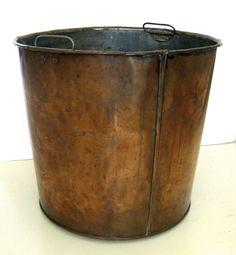Copper Bucket Bin