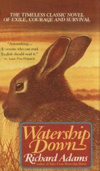 Watership Down by Richard Adams One of the few books that I read for the first time as an adult....but grew up watching the movie. My 3 older kids all love the movie as well